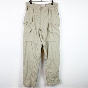 Columbia Sportswear Khaki Zip Off Pants Women's L